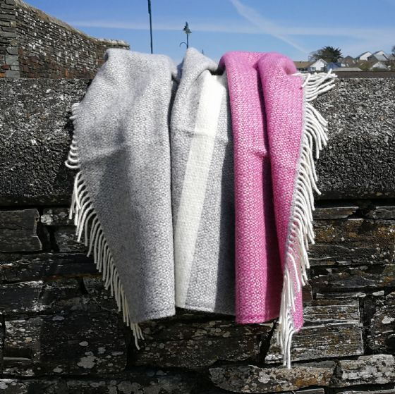 Windmill Mulberry Panel Wool Blanket / Throw